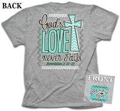 Kerusso Cherished Girl God's Love Never Fails Christian T-Shirt
