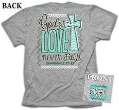 Kerusso Cherished Girl God's Love Never Fails Christian T-Shirt