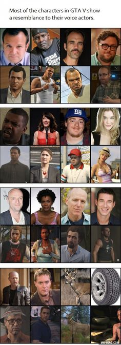 GTA V characters resemble their Voice Actors.