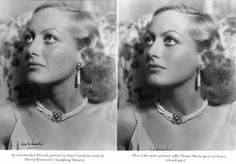 Joan Crawford after six hours of retouching... nothing new to see here.
