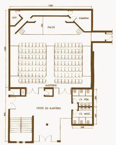 Resultado de imagen para auditorio FOYER CORTE Amphitheater Architecture, Auditorium Architecture, Theatre Architecture, School Architecture, Architecture Plan, Architecture Details, Auditorium Plan, Auditorium Design, Auditorium Seating