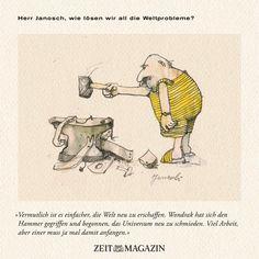 Herr #Janosch, wie lösen wir all die #Weltprobleme?
