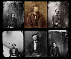 Conspirators (Left to right from top) Michael O'Laughlen, George Atzerodt, Lewis Powell, David Herold, Samuel Arnold, and Edmund Spangler.