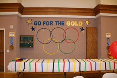Go For the Gold - Olympic Themed Blue and Gold Banquet