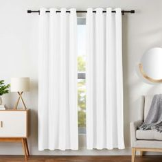 These White Blackout Curtains give you protection from the harmful rays of the sun and protect your valuable furniture. Curtains Living Room, Room Darkening, Black Curtains, Grommet Curtains White, Curtains, Insulated Curtains, White Curtains, Country Curtains, White Blackout Curtains