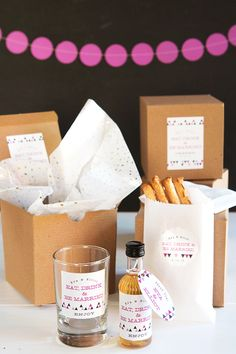 Wedding Favor Friday: Eat, Drink and be Married | Evermine Weddings | www.evermine.com