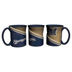 Milwaukee Brewers Coffee Mug 18oz Twist Style #MilwaukeeBrewers