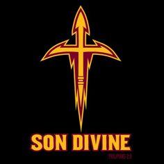 Christian sports parody t-shirt design for Arizona fans.