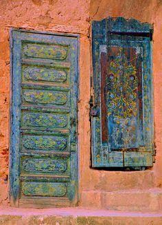Two Doors, Rabat Oudaias, Morocco by David, via Flickr