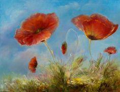 "Saatchi Art Artist Natalia Elerdashvili; Painting, ""Poppies"" #art"