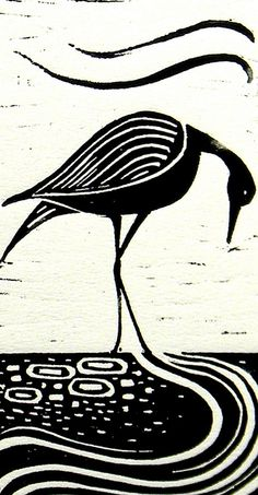 Wader Lino Print | Flickr: Intercambio de fotos
