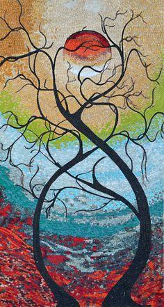 Mosaic Art Reproduction - Twisting Love