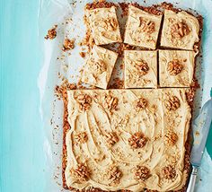 Sticky and syrupy, these grown-up flapjacks will satisfy your cravings with a coffee and walnut twist that's sure to please