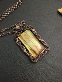 Victorian inspired wire wrapped labradorite by wireandbeyond808