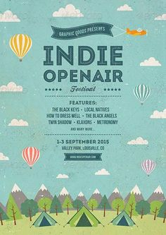 The words and the air are the focus. #order http://ffflyer.com/indie-open-air-festival-flyer-and-poster-template/: