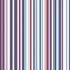 Super Stripe Blue (533602) - Albany Wallpapers - A finely striped design with various widths - shown in shades of blue and red. Other colourways available. Please request a sample for true colour match. Free pattern match.