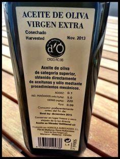 El Alma del Vino.: Gastronomía : AOVE Aubocassa Cosecha 2013.