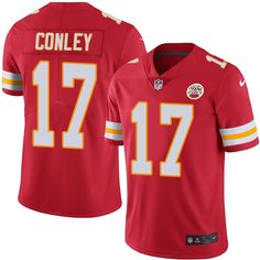 Men's Nike Kansas City Chiefs #17 Chris Conley Elite Black Rush NFL Jersey