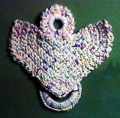 Angel Towel Holder ~ free pattern ᛡ