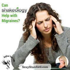 Can Shakeology Help with Migraine Headaches? Shakeology Benefits, Migraine, Recipe Of The Day, Beachbody, Healthy Recipes, Meals, Canning, Advice, Food