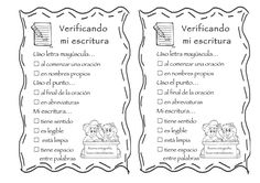 Fichas de verificación de la escritura. Listas para descargar Persuasive Writing, Teaching Writing, Writing Activities, Bilingual Classroom, 3rd Grade Reading, School Worksheets, Dual Language, 5th Grades, Creative Kids