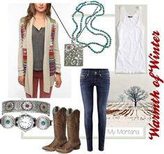 """Warmth of Winter"" by montanasilversmiths on Polyvore"