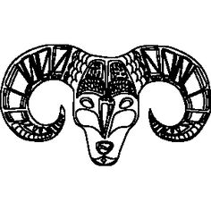 Ornate Aries Zodiac Coloring Page