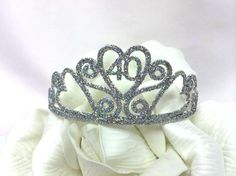 40 Year Birthday Princess Tiara Crown Party Princess Metal Silver Tiara * Continue to the product at the image link.(This is an Amazon affiliate link and I receive a commission for the sales)