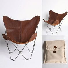 Butterfly Chair...urban outfitters luv leather butterfly chairs with carry ing case