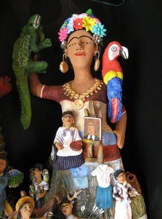 Frida Kahlo by Josefina Aguilar of Oaxaca, Mexico.