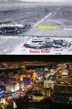 Las Vegas Strip Now and Then  www.all-chips.com has chips from all these casinos for sale.