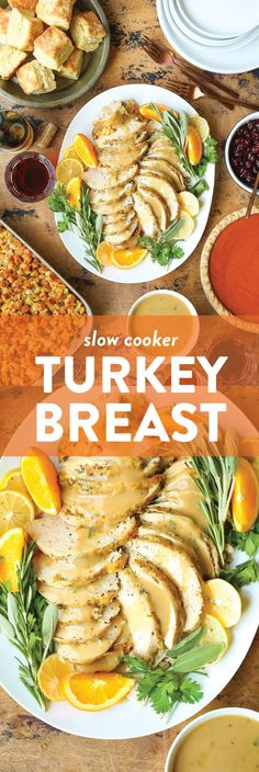 No oven space needed! Includes the best turkey gravy using the drippings! Slow Cooker Recipes, Crockpot Recipes, Cooking Recipes, Slow Cooking, Best Turkey Gravy, Celerie Rave, Slow Cooker Turkey, Breast Recipe, Turkey Breast