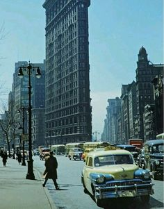 New York City Photos, New York Pictures, Old Pictures, Old Photos, Cities, New York Architecture, Flatiron Building, Vintage New York, Historical Pictures