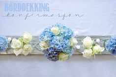 Livets små øyeblikk: Borddekking til konfirmasjonen Frozen Party, Baby Shower Parties, Christening, Tablescapes, Table Settings, Flowers, First Communion, Crafts, Diy