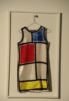 Piet Mondrian, De Stijl inspired shirt/dress -- art inspired fashion