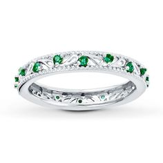 I've been looking for a ring I can wear with my wedding band at work that has Walker's birthstone in it that won't catch on my gloves!