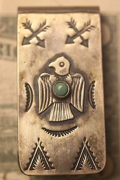 Navajo Zuni Hopi Dead Pawn Silver Turquoise Jewelry STOR Trading Post Money Clip | eBay