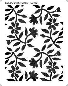 floral stencil - Google Search