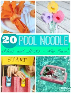 20 Pool Noodle Ideas and Hacks - Who Knew? Summer Hacks found on Frugal Coupon Living.