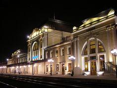 Stacja Tarnów nocą