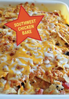 Make a summer chicken dinner the whole family will love with this Southwest Chicken Bake recipe!
