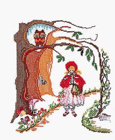 Little Red Riding Hood Cross Stitch