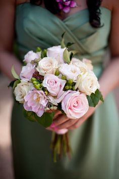 Blush pink and ivory bridesmaid bouquet from Growing Wild in Northern Virginia