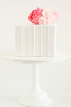 A really sweet little wedding cake...