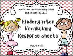 McGraw-Hill Wonders Kindergarten Vocabulary Response Unit Take a New Step Kindergarten Vocabulary, Kindergarten Homework, Literacy, Wonders Reading Programs, Wonders Reading Series, Mcgraw Hill Wonders, No Response, Take That, Teacher