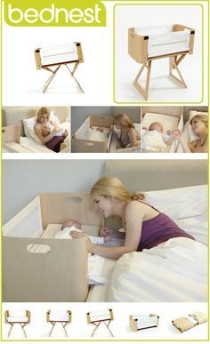 Bednest : The Ultimate Form and Function Co-Sleeping Bassinet: Really want one of these for baby Roman/Alma! Cool Baby, Baby Kind, Baby Must Haves, Baby Shooting, Wishes For Baby, Everything Baby, Baby Needs, Baby Furniture, Furniture Sets