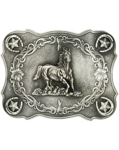 Galloping horse Antiqued Attitude Buckle by Montana Silversmiths Boucle 813d94d5277