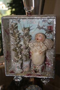 Soldered cigar box by Karen DeCapite. Love the angel!