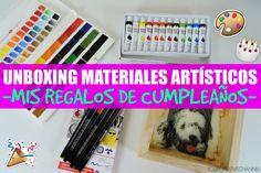 UNBOXING MATERIALES ARTÍSTICOS - Regalos de cumpleaños.