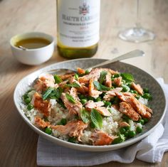 Smoked Trout and Cauliflower Couscous Salad